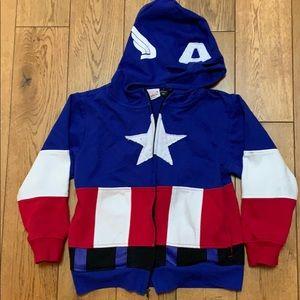 Other - Captain America hoodie XS Marvel sweatshirt boys